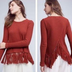 {ANTHRO}ERI+ALI Malla Tassel Pullover Sweater